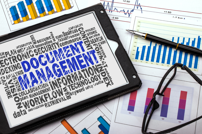 Document management tablet on various content